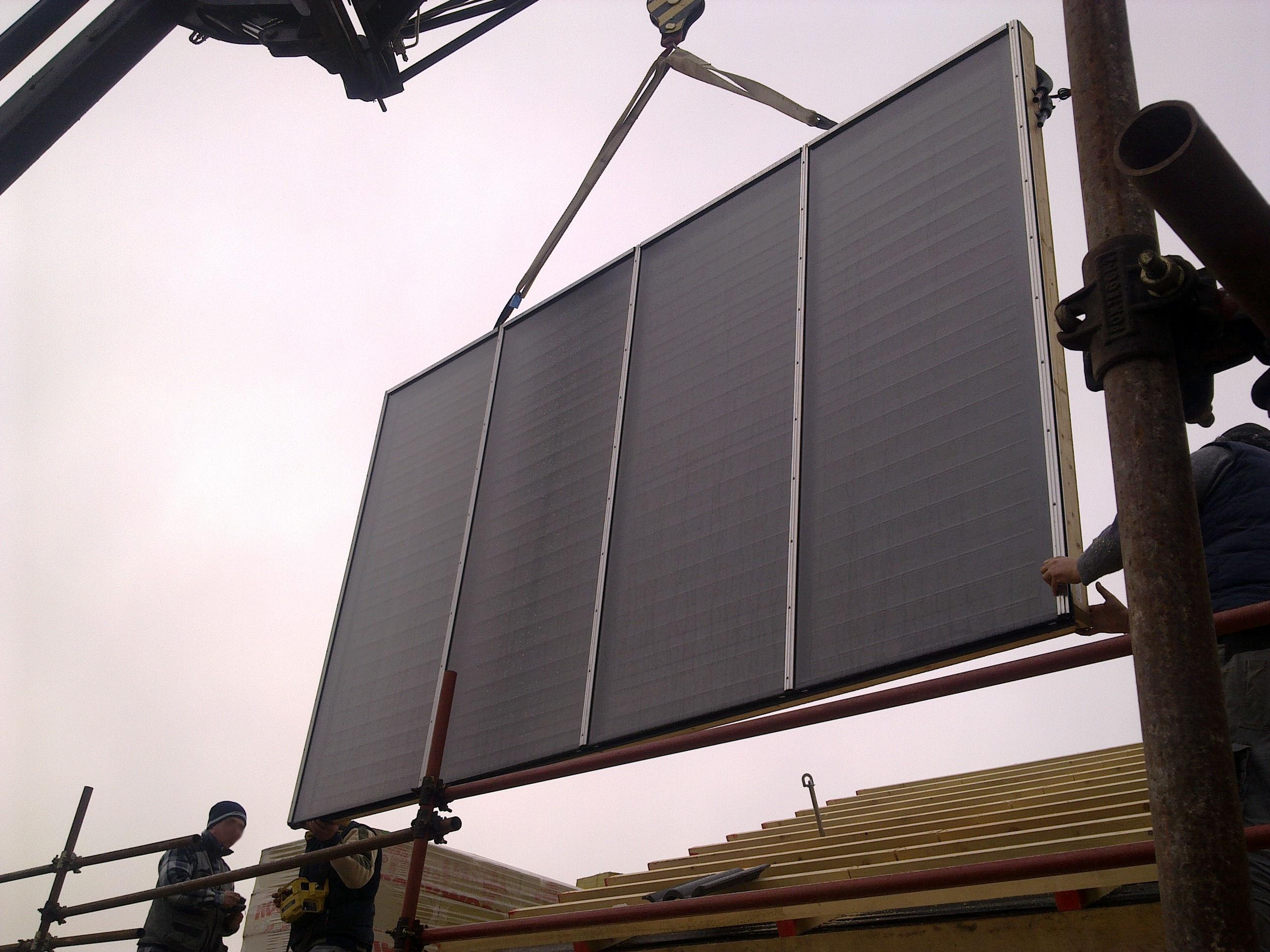 Pannello Solare Disegno Tecnico : Pannello solare recupero sottotetto san mauro t